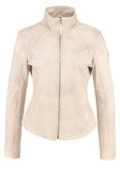 Gipsy Leather Jacket Ivory Off White
