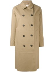Mackintosh Button Front Trench Coat Women Cotton 34 Nude Neutrals