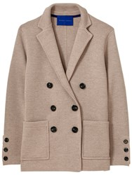 Winser London Milano Wool Double Breasted Blazer Mink