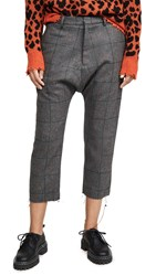 R 13 R13 Tailored Drop Trousers Grey Plaid