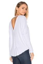 Chaser V Back Oversized Shirttail Dolman Tee White