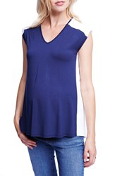 Women's Maternal America Colorblock Maternity Tee