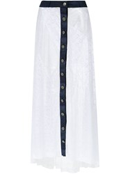 Amir Slama Long Lace Skirt White