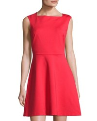 1.State Fit And Flare Sleeveless Dress Red