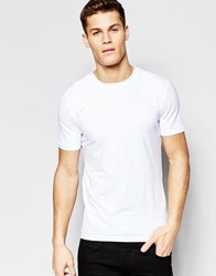 New Look Muscle Fit T Shirt In White White
