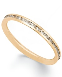 Macy's 14K Rose Gold Ring Cubic Zirconia Polished Band 1 1 2Mm