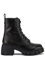 Steve Madden Hybrid Combat Boot In Black.