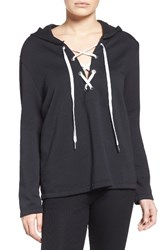 The Laundry Room Women's Lace Up Hoodie