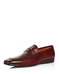 Bruno Magli Men's Motto Leather Loafers 100 Exclusive Bordeaux