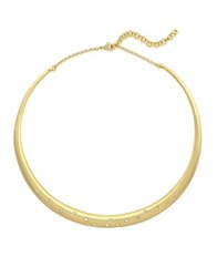 Cole Haan Let It Sink In Goldplated Crystal Collar Necklace