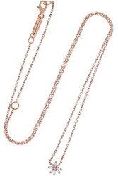 Suzanne Kalan 18 Karat Rose Gold Diamond Necklace