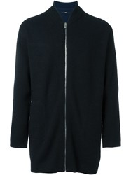 System Zipper Cardigan Black