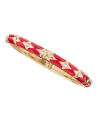 Skinny Bows And Crystals Bangle Red Sequin