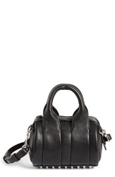 Alexander Wang Baby Rockie Leather Satchel Black