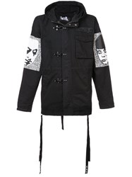 Haculla They're Here Parka Coat Black