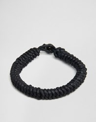 Jack And Jones Jack And Jones Woven Bracelet Black