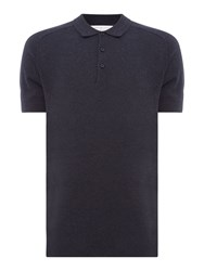 Selected Homme Jack Knitted Polo Blue