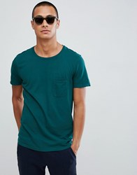 Tom Tailor Crew Neck T Shirt With Pocket In Green