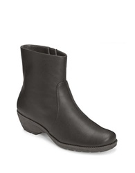 Aerosoles Speartint Faux Leather Booties Black