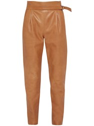 French Connection Goldenburg Leather Trousers Terra Tan