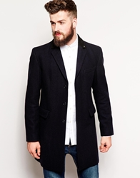 Peter Werth Wool Overcoat Navy