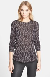 Women's Belstaff 'Posy' Animal Print Long Sleeve Tee