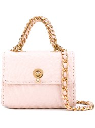 Ermanno Scervino Textured Clutch Bag Women Cotton Leather One Size Pink Purple