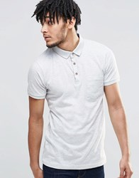 Brave Soul Short Sleeve Polo Shirt Grey