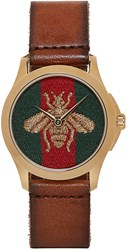 Gucci Brown Medium G Timeless Bee Watch