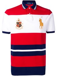 Polo Ralph Lauren Crest Embellished Shirt Red