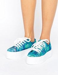 Sixty Seven Sixtyseven Flatform Laceup Sneaker Blue