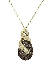 Le Vian 14K Honey Gold Chocolate And Vanilla Diamond Pendant Necklace Brown Diamond Gold