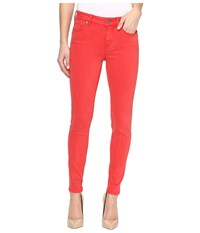 Liverpool Piper Hugger Ankle Skinny With Lift And Shape In Pigment Dyed Slub Stretch Twill In Ribbon Red Ribbon Red Women's Jeans