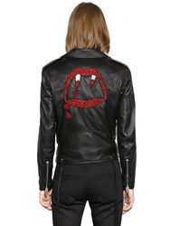 Saint Laurent Blood Luster Motorcycle Leather Jacket