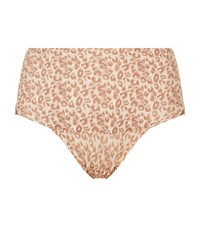 Spanx Undie Tectable Leopard Print Lace Brief Female Neutral