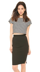 Alice Olivia Connelly Crop Top Black White
