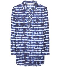 Tory Burch Printed Cotton Tunic Blue