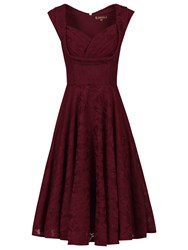 Jolie Moi Crossover Bust Ruched Prom Dress Dark Red