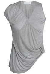Kain Label Belle Draped Modal And Silk Blend Tank Gray
