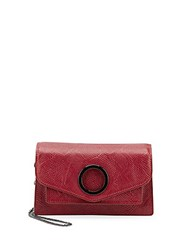 Halston Crossbody Leather Shoulder Bag Carmine