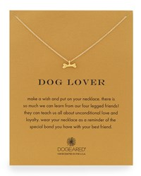 Dog Lover Bone Pendant Necklace Dogeared Gold