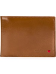 Moschino Vintage Fold Over Wallet Brown