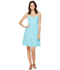 Tommy Bahama Arden Pleated Short Sundress Clear Ocean Women's Dress Blue
