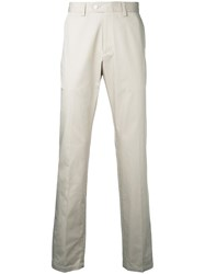 Kent And Curwen Straight Leg Trousers Men Cotton 52 Brown