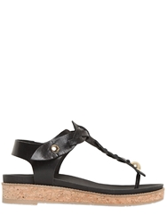 Ras 25Mm Woven Leather Sandals Black