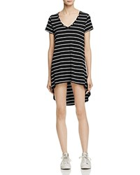 Aqua Striped Shirt Dress 100 Exclusive Black White