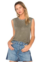 Tyler Jacobs Cut Off Tank Green