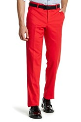 Suslo Couture Solid Sateen Dress Pant Red