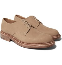 Grenson Curt Triple Welted Nubuck Derby Shoes Cream