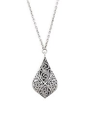Lois Hill Signature Sterling Silver Pendant Necklace